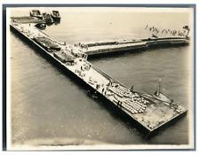 Yemen, Aden (عدن), The Wharf of Banghoi  Vintage silver print Tirage argentiqu
