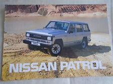 NISSAN PATROL BROCHURE DEC 1987