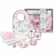 Tommee Tippee Closer To Nature Baby Girl 8 PC Bottle Pacifier Bib Gift Set 0-6M