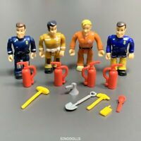 New 4pcs Original Fireman Sam PVC Action Figures & Accessories Toys Playset