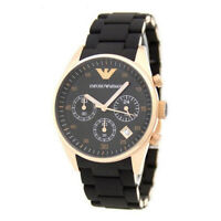 100% New Emporio Armani AR5905 Tazio Chrono Black 43mm Case Men's Quartz Watch
