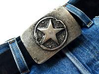 Stern Gürtelschnalle Star buckle Vintage silber Biker Wechselschnalle 4 cm