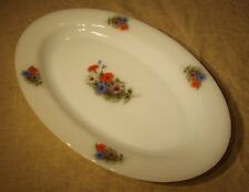 Plat ovale Arcopal vintage 60's 70's décor fleurs   n°2