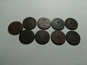 Lot Of ( 9 ) Large Cents
