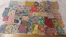Vintage Feedsack Small Quilt Scraps 47 different Prints