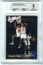 SHAQUILLE O'NEAL~1992 UPPER DECK #1 DRAFT PICK BGS-9 MINT HOT SP ROOKIE RC CARD