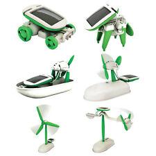 DIY 6 IN 1 Educational Learning Toys Power Solar Robot Kit Children Toy 2016