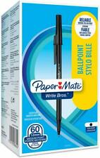 PaperMate Medium Point (1.0 mm) Write Bros Ballpoint Pen, Black, Box of 60