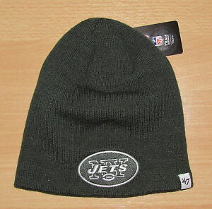 NEW YORK JETS NFL CUFFLESS WINTER KNIT HAT CAP SIZE YOUTH