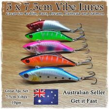 5pcs 7.5cm HARD BODY VIBE FISHING LURES VIBRATING JERKBAIT LURES FLATHEAD SALMON