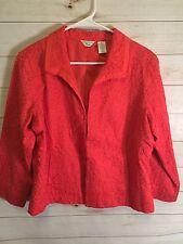 Laura Ashley Petite Red Jacket Size PL