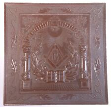 Very Rare Antique Fraternal Masonic Collar Box W. Gutta Percha Lid