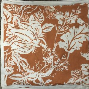 2 Pottery Barn 20x20 Pillow Covers Coral Orange Ivory 20 X 20 Throw Floral