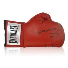 More details for sugar ray leonard signed red boxing glove