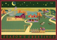 Season's Greetings Western Ranch 16 Boxed Christmas Cards by Lpg Greetings