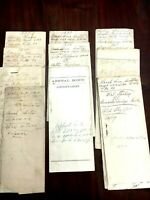 10 Used Court Documents 1890s Pike County GA, Debt Collection, Appeal +