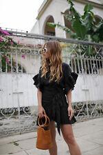 NWT ISABEL MARANT ÉTOILE  Delicia Ruffled Linen Mini Dress Sz 40