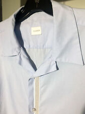 men's JIL SANDER short sleeve cotton shirt contrast band detailing SUMMER!