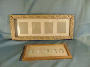 2 Antique picture frames vintage female photos  Girls with Bows Hats Art