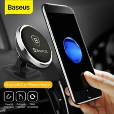 Baseus Magnetic Car Phone Holder Stand Dashboard Mount For iPhone Samsung Silver