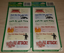 FAX LABELS ~ ETIQUETTES TELEFAX ~ BRAND NEW PACKAGE OF 12