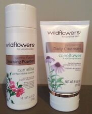 Wildflowers Gentle Facial Cleansing Powder & Exfoliating Daily Cleanser 2 Pack