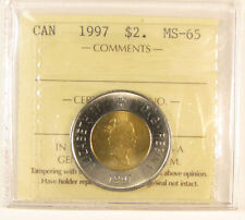 1997  $2 Canada coin. ICCS graded MS-65 (toonies)
