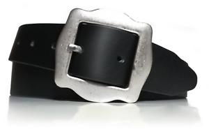 almela - Cinturón mujer - Piel legítima - Vaquetilla - 3,5 cm de ancho - Cuero
