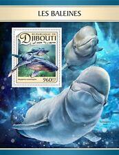 Djibouti - Postfris / MNH - Sheet Whales 2017