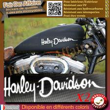 2 stickers autocollant harley davidson sticker deco réservoir casque moto