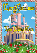 Princess Castle ptcc57 Xmas Christmas card A5 Personalised Greeting Cards