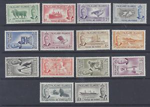 FALKLAND ISLANDS  GVI  1952  SET OF 14  MINT NEVER HINGED  SG 172/185