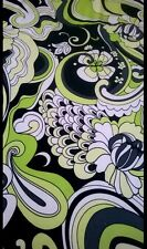 "Printed POLYESTER LYCRA Dance Fabric Material Textile 60""  Bright Green"