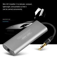 Mini HIFI Estéreo Auricular Amplificador AMP 3.5mm AUX Digital Audio Player Set