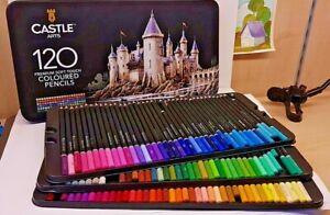 Matite colorate Castle Art, Box in metallo da 120