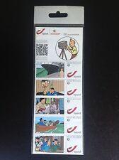 plaquette de timbres Tintin Duostamp ETAT NEUF