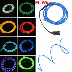 3.28/6.56/9.84/13.12/16.40ft 1-5m Flexible Neon EL Wire Light Strip Car/Party