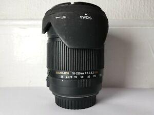Sigma 18-250mm Lens F/3.5-6.3 DC OS HSM Macro DC - Canon EF