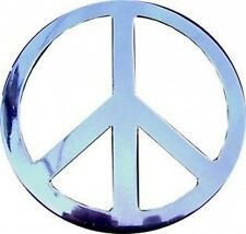 Silver Chrome PEACE SIGN symbol hippies Belt Buckle