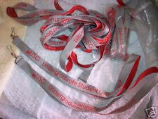 Lot Of 30 New Silver /Red Logo Key Lanyards W/ Key Hook