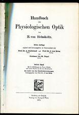 Helmholtz Treatise on Physiological Optics-   1925