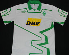 1993-1994 WERDER BREMEN MATCHWORN PUMA HOME FOOTBALL SHIRT (SIZE XL)