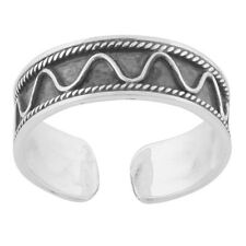 New Sterling Silver Tribal Bali Adjustable Midi Knuckle Toe Ring