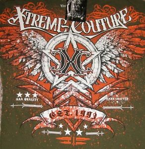 """Xtreme Couture by Affliction 2-Sided Graphic Tee """"CHEVRON""""  MMA, Fight Club,"""