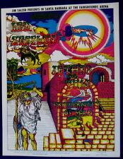 Psychedelic poster Led Zeppelin SALZER Santa Barbara Jethro Tull 1 Aug 1969 mint