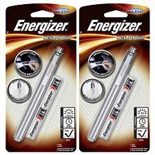 2 x Energizer LED Metal Pen Light Torch Flashlight Penlite 2 x AAA Batteries Inc