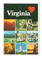 Virginia Highlights Vintage 4x6 Postcard AN19