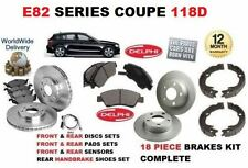 FOR BMW 118 2007-2012 FRONT & REAR BRAKE DISCS SET & PAD KIT & SENSOR & SHOES