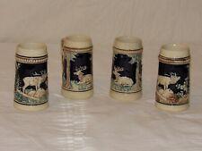 Set of 4 Vintage German Beer Steins made in Germany