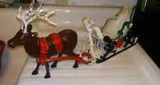 Santa Cast Iron Sleigh & Reindeer